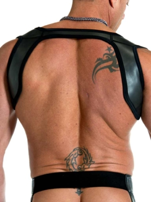 665 Leather Neoprene Slingshot Harness Black/Black (Back Cover)