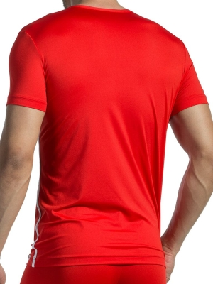 Olaf Benz V-NeckT-Shirt  Regular RED1435 Red/White (Back Cover)