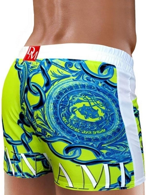 Danny Miami Lord Beach Shorts Lime (Back Cover)