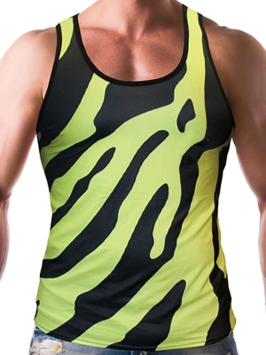 Gian Gianni Neon Safari Tank Top Multi (Front Cover)