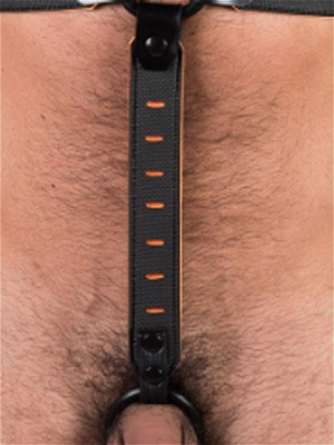 665 Leather NeoFlex Down Strap Neoprene Harness Extension Regular Black/Orange (Front Cover)