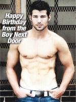 Birthday: From the boy next door Greeting Card