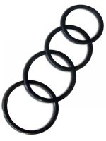 Thin Rubber Cockring 4-Ring-Set 40/45/50/55 mm