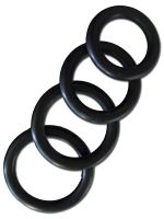 Thick Rubber Cockring 4-Ring-Set 40/45/50/55 mm