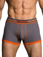 baskit Ribbed Low Rise Trunk Underwear Pewter Grey