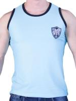 GBGB VI9 Rigis Muscle Tank Top Mesh Fabric Light Blue