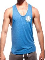 Supawear Sports Club Singlet Tank Top Blue Marle