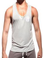 Supawear Sports Club Singlet Tank Top Grey Marle