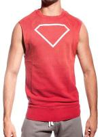 Supawear Diamond Sleeveless Sweater Dark Red