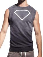 Supawear Diamond Sleeveless Sweater Dark Grey