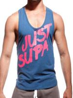 Supawear Just Supa Singlet Tank Top Blue/Pink