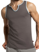 jackadams Core V-Tank Top Grey/Sky