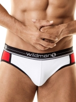 WildmanT Apollo Short Brief with Cock Ring Underwear White/Red