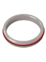 Stainless Steel Cockring with RED Band