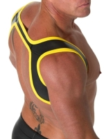 665 Leather Neoprene Slingshot Harness Black/Yellow