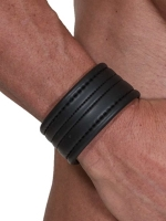 665 Leather Neoprene Wristband Bracelet Black
