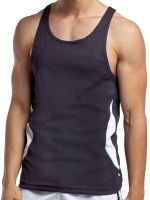 jackadams Relay Proformance Tank Top Black/White