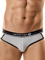 WildmanT Moon Short Brief Underwear Gray/White