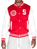 Supawear Sports Club Varsity Jacket Red