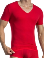 Olaf Benz V-Neck T-Shirt Low RED0965 Lips