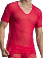 Olaf Benz V-Neck T-Shirt Low RED1565 Red