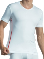 Olaf Benz V-Neck T-Shirt Regular RED1435 White/Red