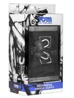 Tom of Finland Ankle Cuffs Neoprene Black With Locks