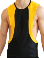 GB2 Arnold Training Muscle Tank Top Black/Yellow