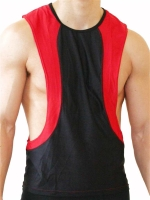GB2 Arnold Training Muscle Tank Top Black/Red