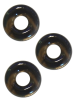 Sport Fucker Chubby Rubber 3-pc Cockring-Set Smoke