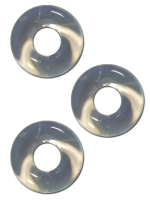 Sport Fucker Chubby Rubber 3-pc Cockring-Set Clear