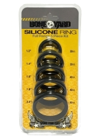 Bone Yard Silicone Ring 5-Pcs Kit Black