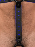 665 Leather NeoFlex Down Strap Neoprene Harness Extension Regular Black/Blue