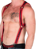 665 Neoprene Heckler Harness Red/Black