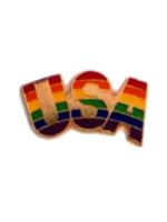 Pin Rainbow USA