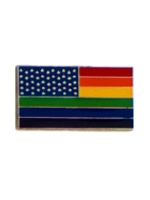 Pin Stars And Rainbow Stripes