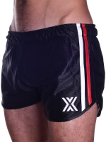 BoXer 80s Miniboxer Football Shorts Black/Red And White Stripes