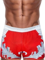 Danny Miami Crown Beach Shorts Red