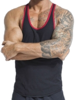 jackadams Metro Tank Top Black/Red