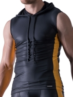 Manstore Hoody Tank Top M521 Black/Yellow