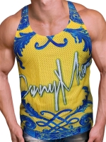 Danny Miami Crown Yellow Tank Multi