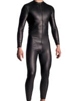 Manstore Allover Suit w. Zipper M510 Black