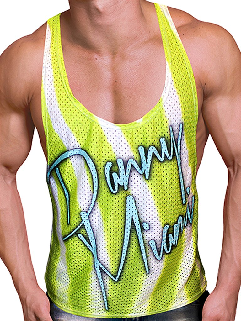 Danny-Miami-Sea-Lime-Tank-Top-Multi-Camiseta-camisa-musculo-camiseta-sin-mangas