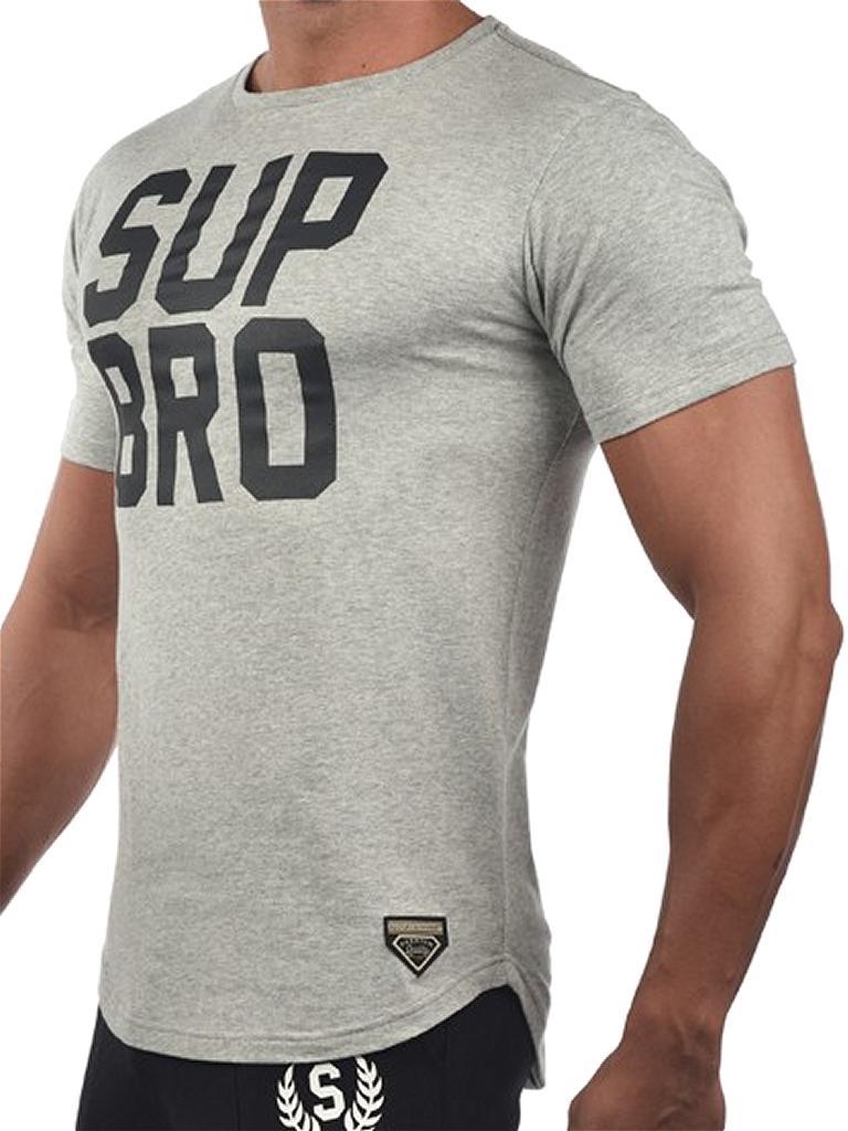 Supawear SUP BRO T-Shirt Grau Marle Tee Tee-Shirt Top Men masculine New