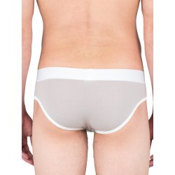 Sport Fucker Slapshot Brief Underwear White/Grey (T4910)