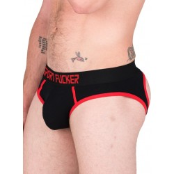 Sport Fucker Hooker Open Brief Underwear Black/Red (T4903)
