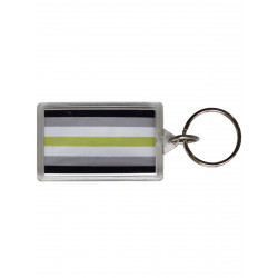 Agender Flag Key Ring (T5149)