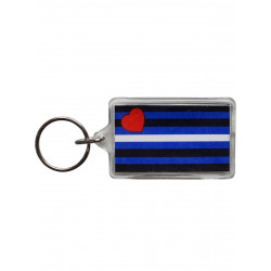 Leather Flag Key Ring (T5144)