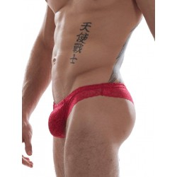GBGB Raffy Lace Brief Underwear Red