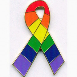 Pin Rainbow Fancy Ribbon (T1053)